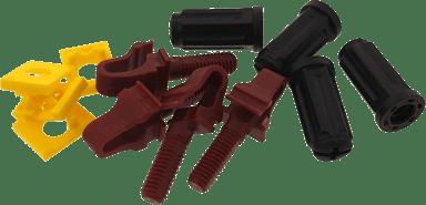 Direktronik Rackstuds V2 Red/Brown 100-Pack