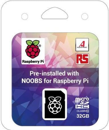 Raspberry Pi 32GB MicroSDHC With NOOBS