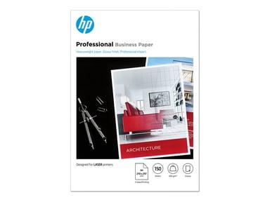 HP Papper Professional Glossy A4 200g Laserjet 150 Ark