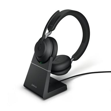 Jabra Evolve2 65 UC USB-C with Stand Svart