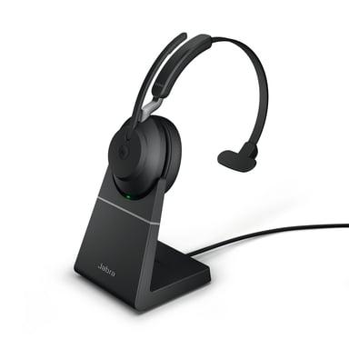 Jabra Evolve2 65 MS USB-A with Stand Svart