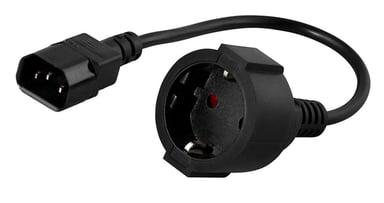 Prokord Strömkabel 0.5m Ström IEC 60320 C14 Ström CEE 7/4 Hona