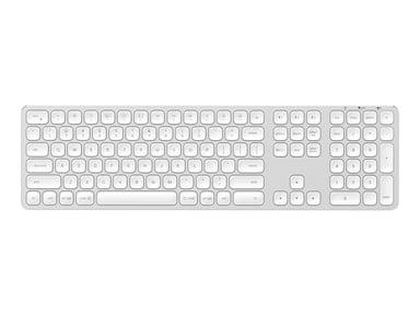 Satechi Aluminum Bluetooth Wireless Keyboard Trådløs Nordisk Sølv