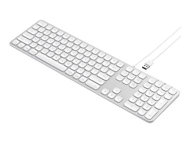 Satechi Aluminum Wired Keyboard Langallinen Pohjoismaat Hopea