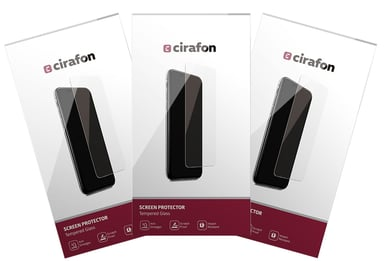 Cirafon Curved Asahi Glass 0.3mm 3-Pcs iPhone 11 Pro iPhone X iPhone Xs