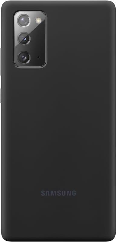 Samsung Silicone Cover EF-PN980 Samsung Galaxy Note 20 Mystisk svart