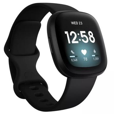 Fitbit Versa 3 Svart Aktivitetspårare Svart
