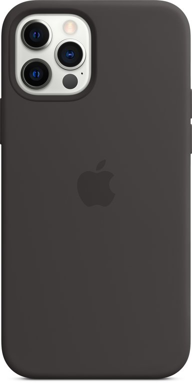 Apple Silicon Case with MagSafe iPhone 12 iPhone 12 Pro Svart
