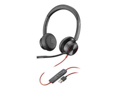 Poly Blackwire 8225 Microsoft USB-A Svart
