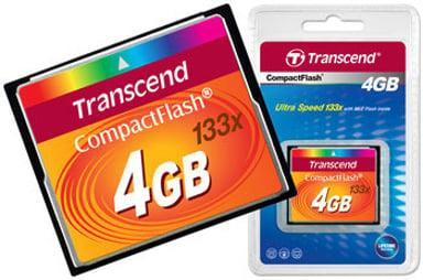 Transcend Flashminnekort 4GB CompactFlash Kort