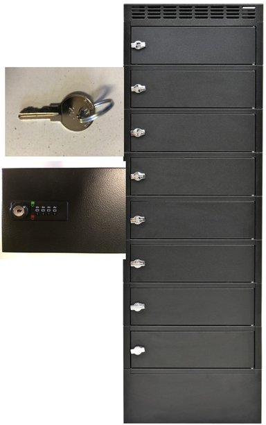 Leba Notelocker 8 Rooms W/Electronic Lock1000 /SC Power #FI