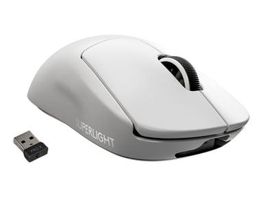 Logitech PRO X SUPERLIGHT Wireless Gaming Mouse 25,400dpi Mus Trådløs Hvit