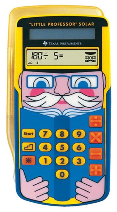 """Texas Räknare """"Den Lilla Professorn"""" Solar"""