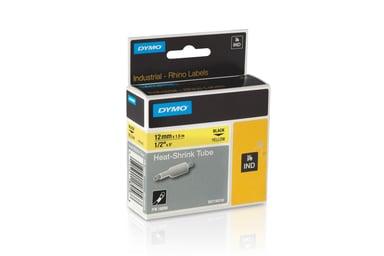 Dymo Tape RhinoPRO Heat Shrink 12mm Sort/Gul