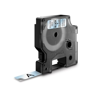 Dymo Tape D1 12mm Svart/Transparent