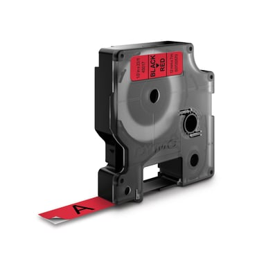 Dymo Tape D1 12mm Sort/Röd