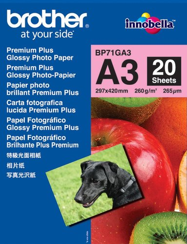 Brother Papir Photo Glossy A3 20-ark 260G