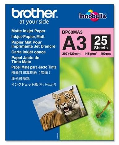 Brother Papir Photo Mattert A3 25-Ark 145g