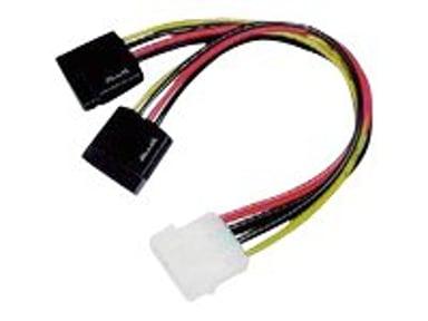 Microconnect Strømforsyningsadapter 0.2m 4-PIN intern strøm Han 15 pin Serial ATA strøm Han