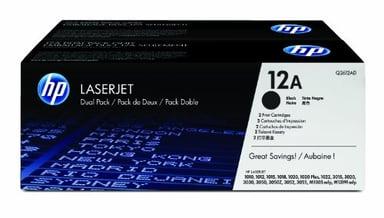 HP Toner Sort 12A 2K - Q2612AD 2-Pack