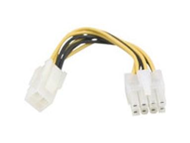 Deltaco Strømforsyningsadapter 0.1m Effekt ATX12V 4-pin stik Hun Effekt 8 pins +12V Han