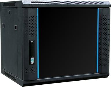 """Toten 19"""" Wall Cabinet 9U 600X450 Glassdoor Black"""