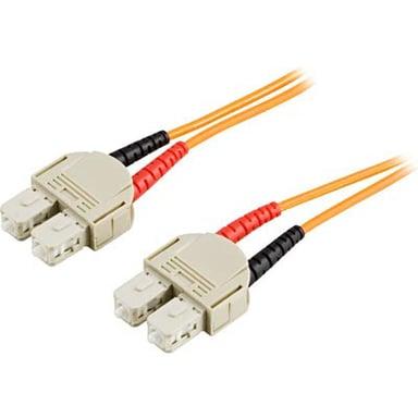 Deltaco Optisk fiberkabel SC/UPC SC/UPC OM2 2m 2m