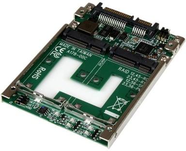 "Startech Dual mSATA SSD to 2.5"" SATA RAID Adapter Converter"
