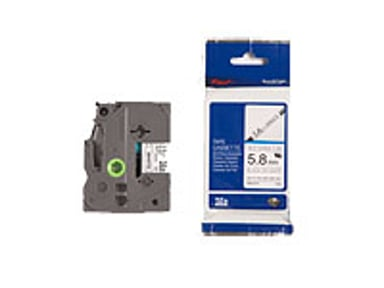 Brother Tape Krympslang HSE-211 5,8mm Svart/Vit null