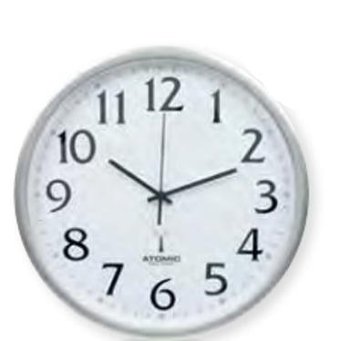 Ketonic Wall Clock Sweep 330mm Radio Silver