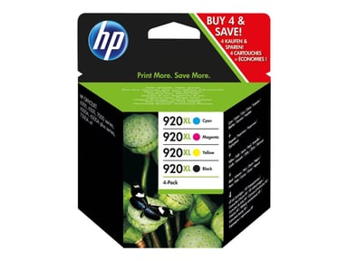 HP Bläck Kit 920XL (BK/C/M/Y) - OfficeJet 6000 6500