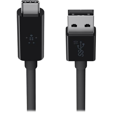 Belkin 3.1 USB-A to USB-C Cable Zwart