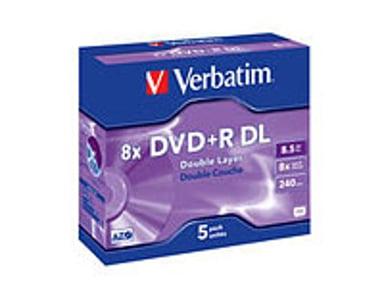 Verbatim DVD+R DL x 5