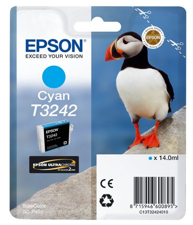 Epson Inkt Cyaan T3242 - SC-P400