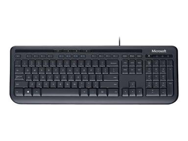 Microsoft Wired Keyboard 600 Langallinen Englanti Musta