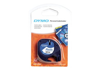 Dymo Tape LT 12mm Plast Hvit