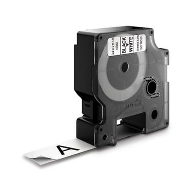 Dymo Tape D1 19mm Svart/Vit Flexible