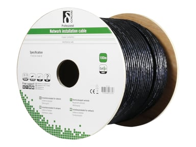 Deltaco TP-52 CAT 6a Shielded foiled twisted pair (SFTP) Zwart 100m