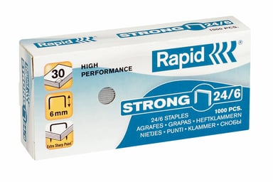 Rapid Stifter Strong 24/6 Galvanisert 1000 stk null