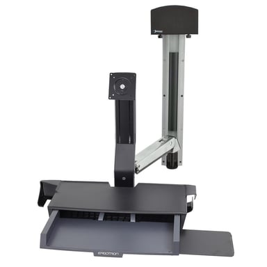 Ergotron Styleview® Sit-Stand Combo System With Worksurface (Polished Aluminum)
