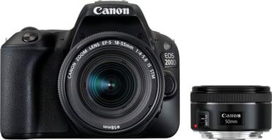 Canon EOS 200D + EF-S 18-55/3,5-5,6 IS STM + EF 50/1,8 STM