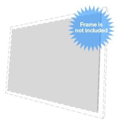 "Multibrackets Extra Duk M Gray+ - Screen 16:9 108"" Framed"