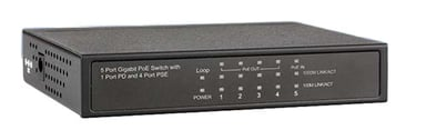 Direktronik PoE Expander 4-port with PoE In (802.3AT)