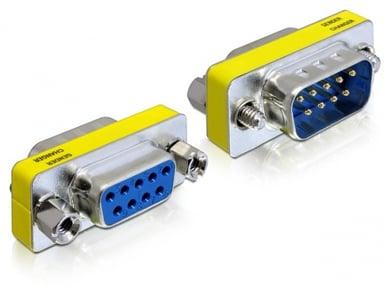 Delock Adapter 9-nastainen D-Sub (DB-9) Uros 9-nastainen D-Sub (DB-9) Naaras Hopea Keltainen Sininen