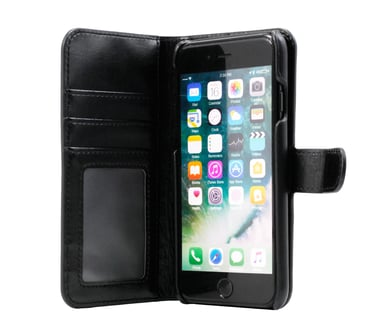 Cirafon Genuine Leather Wallet Magnet Iphone 7/8 - Svart iPhone 6/6s iPhone 7 iPhone 8 iPhone SE (2020) Svart