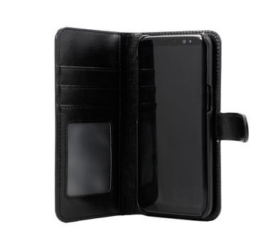 Cirafon Genuine Leather Wallet Magnet Samsung Galaxy S8 Sort