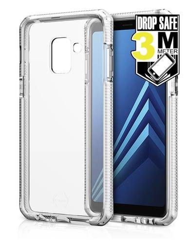 Cirafon Supreme Drop Safe Samsung Galaxy A8 (2018) Hvit Klarglanset
