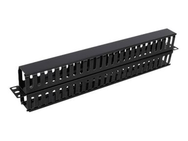 """Deltaco Cable Management Panel Double Sided 19"""""""