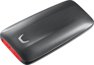 Samsung Portable SSD X5 2TB Grå Röd