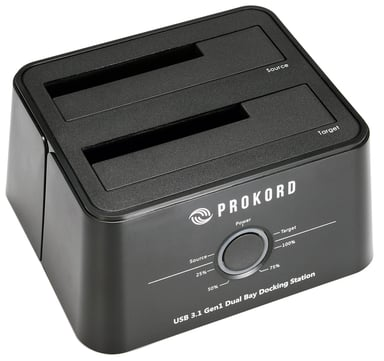 Prokord Prokord Docking Station And HD Cloner Usb-c For 2X SATA null